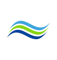 Line wave abstract water company logo vector
