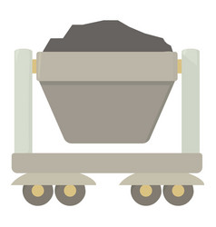 Mine cart icon cartoon style vector