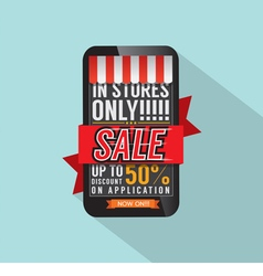 Mobile shopping concept vector