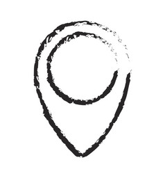 monochrome blurred silhouette of map pointer icon vector image