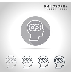 Philosophy outline icon vector