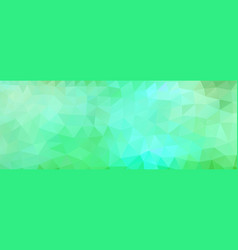polygon background green and light blue wide vector image