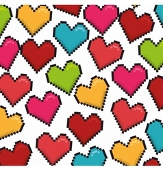 Romantic colorful card design with colorful hearts vector image
