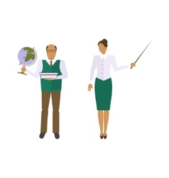 School male and female teacher vector image vector image