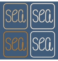 Sea nautical ropes design elements vector