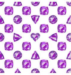 Seamless pattern with precious gem amethyst vector