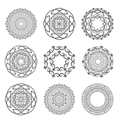 Set Mandalas Round Ornament vector image