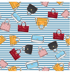 set of different women handbags endless texture vector image vector image