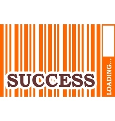 Success word build in bar code vector