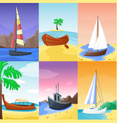 summer time vacation nature tropical beach with vector image