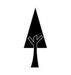 tree nature forest ecology pictogram vector image vector image