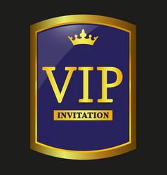vip label vector image vector image