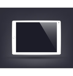 white tablet computer with blank screen vector image