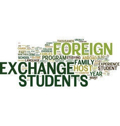 You too can be a foreign exchange student text vector