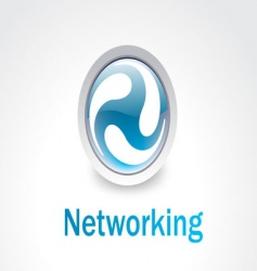 Networking logo vector