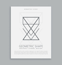 Lineart geometric shapes vector