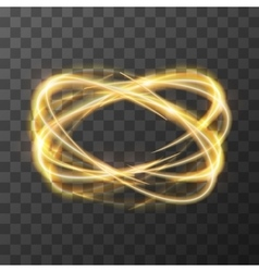 Neon blurry swirl golden trail effect at motion vector
