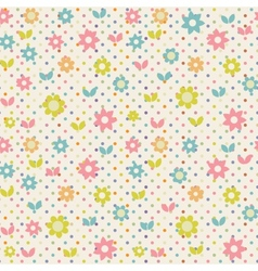 Floral seamless beautiful pattern vector