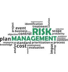 word cloud - risk management vector image