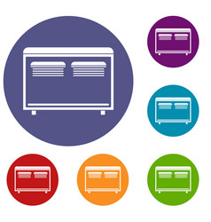 Home equipment for heating icons set vector