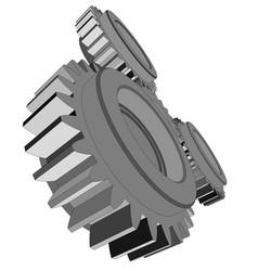 three metal gears vector image