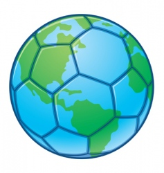 planet earth soccer ball vector image