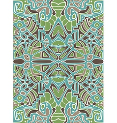 Abstract design with mosaic ornament vector