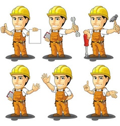 Industrial Construction Worker Mascot 2 vector image