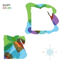 Abstract color map of egypt vector