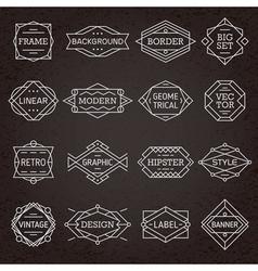 Modern Hipster Frames Borders Labels vector image
