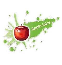 Label for apple juice and drinks vector