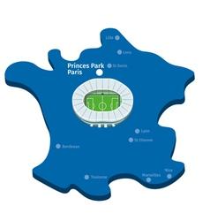 Princes park paris euro 2016 vector