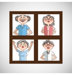 Grandparents graphic vector image