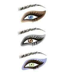 Eyes design elements - art vector