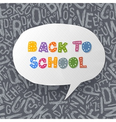 Back to school abstract background vector