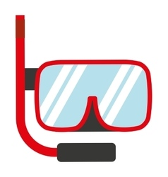 Snorkel gear isolated icon design vector