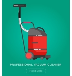 Flat vacuum cleaner icon vector