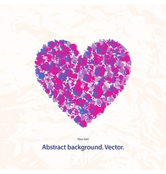 a grunge heart with a pattern on a light vector image vector image