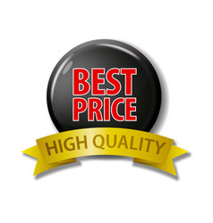 Black button best price - high quality vector