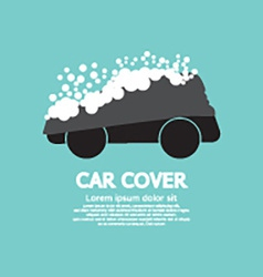 Car Cover With Snow Graphic vector image vector image