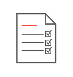 checklist icon thin line vector image vector image