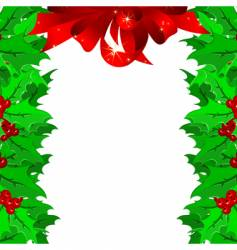 Christmas garnish frame vector image