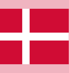 Colored flag of denmark vector