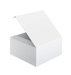 Cool Realistic White Package Box Opened Square vector image vector image
