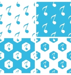 Eighth note patterns set vector