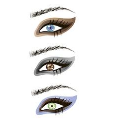 Eyes design elements - art vector image