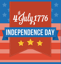 happy independence of america vector image vector image