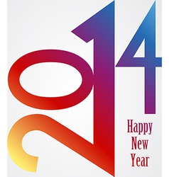 Happy New Year 2014 rainbow vector image vector image