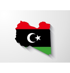 Libya map with shadow effect vector