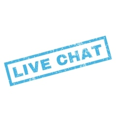 Live chat rubber stamp vector